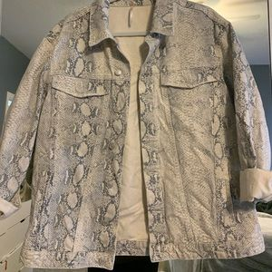 snake print free people jacket